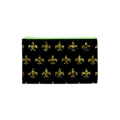 Royal1 Black Marble & Gold Foil (r) Cosmetic Bag (xs)