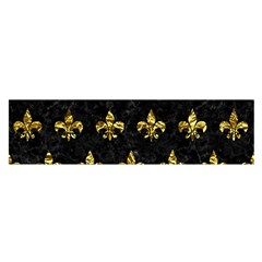 Royal1 Black Marble & Gold Foil (r) Satin Scarf (oblong)