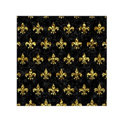 Royal1 Black Marble & Gold Foil (r) Small Satin Scarf (square)
