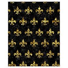 Royal1 Black Marble & Gold Foil (r) Drawstring Bag (small)