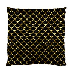 Scales1 Black Marble & Gold Foil Standard Cushion Case (one Side)