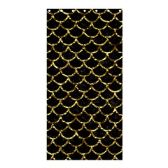 Scales1 Black Marble & Gold Foil Shower Curtain 36  X 72  (stall)