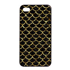 Scales1 Black Marble & Gold Foil Apple Iphone 4/4s Seamless Case (black)