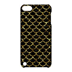 Scales1 Black Marble & Gold Foil Apple Ipod Touch 5 Hardshell Case With Stand