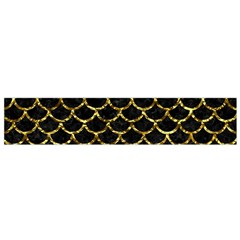 Scales1 Black Marble & Gold Foil Flano Scarf (small)