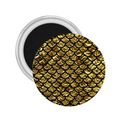Scales1 Black Marble & Gold Foil (r) 2 25  Magnets