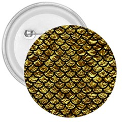Scales1 Black Marble & Gold Foil (r) 3  Buttons