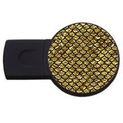 Scales1 Black Marble & Gold Foil (r) Usb Flash Drive Round (2 Gb)