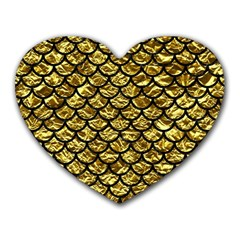 Scales1 Black Marble & Gold Foil (r) Heart Mousepads
