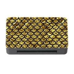 Scales1 Black Marble & Gold Foil (r) Memory Card Reader With Cf
