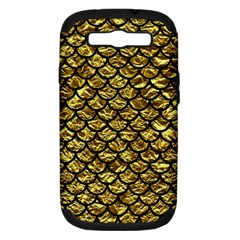 Scales1 Black Marble & Gold Foil (r) Samsung Galaxy S Iii Hardshell Case (pc+silicone)
