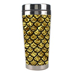 Scales1 Black Marble & Gold Foil (r) Stainless Steel Travel Tumblers