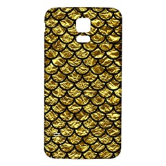 Scales1 Black Marble & Gold Foil (r) Samsung Galaxy S5 Back Case (white)