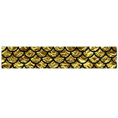 Scales1 Black Marble & Gold Foil (r) Flano Scarf (large)