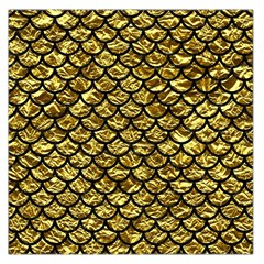 Scales1 Black Marble & Gold Foil (r) Large Satin Scarf (square)