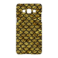Scales1 Black Marble & Gold Foil (r) Samsung Galaxy A5 Hardshell Case