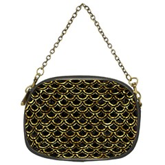 Scales2 Black Marble & Gold Foil Chain Purses (one Side)