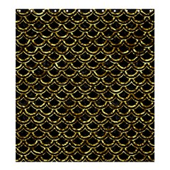 Scales2 Black Marble & Gold Foil Shower Curtain 66  X 72  (large)