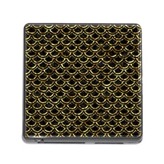 Scales2 Black Marble & Gold Foil Memory Card Reader (square)