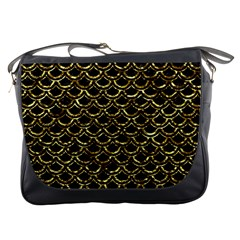 Scales2 Black Marble & Gold Foil Messenger Bags