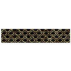 Scales2 Black Marble & Gold Foil Flano Scarf (small)