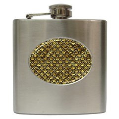 Scales2 Black Marble & Gold Foil (r) Hip Flask (6 Oz)