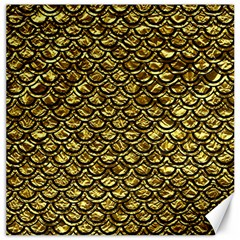 Scales2 Black Marble & Gold Foil (r) Canvas 12  X 12