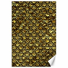 Scales2 Black Marble & Gold Foil (r) Canvas 20  X 30