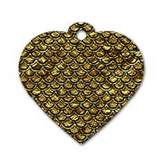 Scales2 Black Marble & Gold Foil (r) Dog Tag Heart (two Sides)