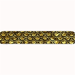 Scales2 Black Marble & Gold Foil (r) Small Bar Mats