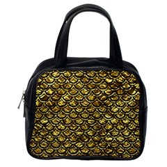 Scales2 Black Marble & Gold Foil (r) Classic Handbags (one Side)