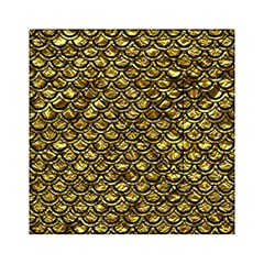 Scales2 Black Marble & Gold Foil (r) Acrylic Tangram Puzzle (6  X 6 )