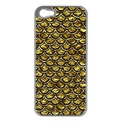 Scales2 Black Marble & Gold Foil (r) Apple Iphone 5 Case (silver)