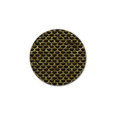 Scales3 Black Marble & Gold Foil Golf Ball Marker (10 Pack)