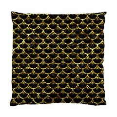 Scales3 Black Marble & Gold Foil Standard Cushion Case (one Side)