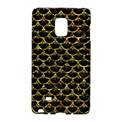 Scales3 Black Marble & Gold Foil Galaxy Note Edge