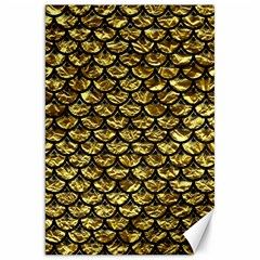 Scales3 Black Marble & Gold Foil (r) Canvas 20  X 30