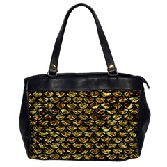 Scales3 Black Marble & Gold Foil (r) Office Handbags