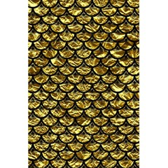 Scales3 Black Marble & Gold Foil (r) 5 5  X 8 5  Notebooks