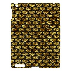 Scales3 Black Marble & Gold Foil (r) Apple Ipad 3/4 Hardshell Case