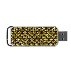 Scales3 Black Marble & Gold Foil (r) Portable Usb Flash (one Side)