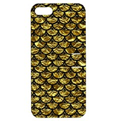 Scales3 Black Marble & Gold Foil (r) Apple Iphone 5 Hardshell Case With Stand