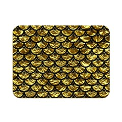 Scales3 Black Marble & Gold Foil (r) Double Sided Flano Blanket (mini)