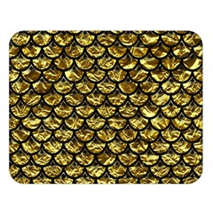 Scales3 Black Marble & Gold Foil (r) Double Sided Flano Blanket (large)