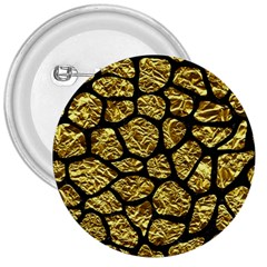 Skin1 Black Marble & Gold Foil 3  Buttons