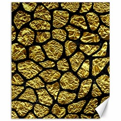Skin1 Black Marble & Gold Foil Canvas 8  X 10