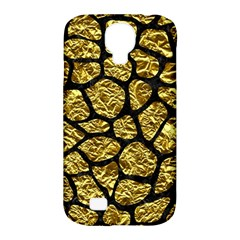 Skin1 Black Marble & Gold Foil Samsung Galaxy S4 Classic Hardshell Case (pc+silicone)