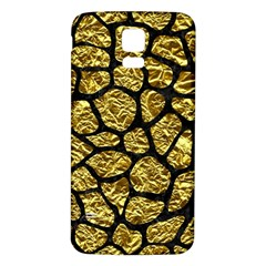 Skin1 Black Marble & Gold Foil Samsung Galaxy S5 Back Case (white)