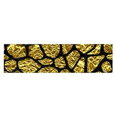 Skin1 Black Marble & Gold Foil Satin Scarf (oblong)