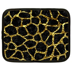 Skin1 Black Marble & Gold Foil (r) Netbook Case (xxl)